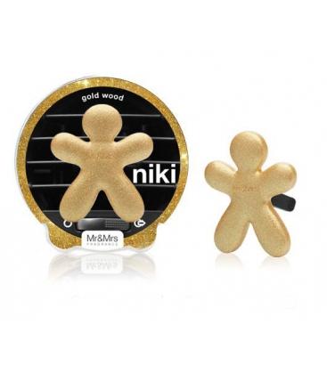 Ароматизатор для авто Niki GOLD WOOD / Золотое дерево (цвет сверкающий золотой) Mr&Mrs Fragrance