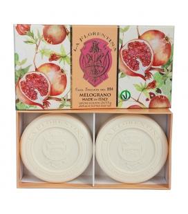 Набор мыла Pomegranate / Гранат 2х115 г La Florentina