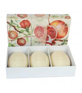 Набор мыла Pomegranate / Гранат 3х150 г La Florentina